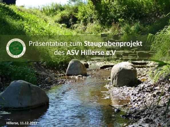 Titelseite Staugrabenprojekt 2017
